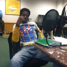Rashad in the studio